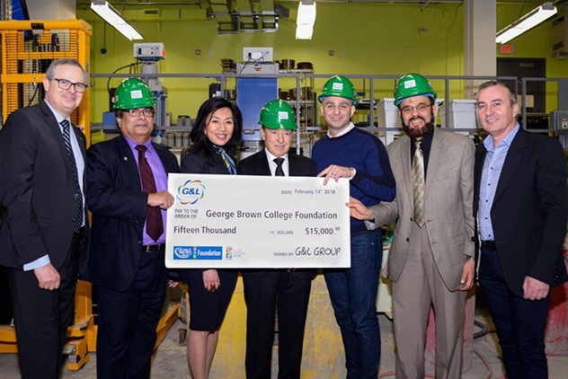 G&L Group Donates $15,000 for Construction & Engineering Technologies Scholarships
