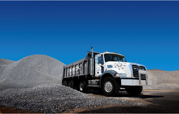 Image of Brock Aggregates tri-axe truck